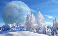 So beautiful. Let it snow. Walking in a Winter Wonderland! Walking in a Winter Wonderland! Let it Snow! Winter Pictures, Cool Pictures, Cool Photos, Beautiful Pictures, Amazing Photos, Winter Szenen, Winter Magic, Winter Moon, Winter Blue