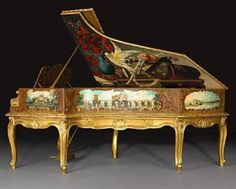 The Regence Style Concert Grand Piano that was created by Sebastien Erard Paris. With its rather grand length of 246 cm, this unique masterpiece was first seen participating in the the International Universal Exposition of Industry way back in 1889 in Pa Piano Keys, Piano Music, Piano Art, Sound Of Music, Music Love, Pop Music, Pianos Peints, Painted Pianos, Under The Hammer