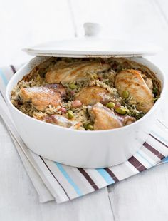 One-pot Lemon Chicken with Thyme Rice - The Happy Foodie