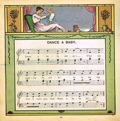 "Walter Crane Baby's Opera - ""DANCE A BABY"" - Children's Lithograph - 1870"