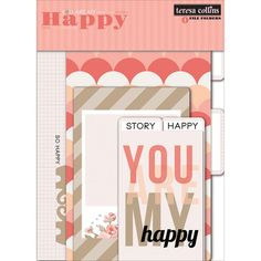 Teresa Collins You Are My Happy Tabbed Cardstock File Folders