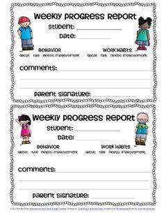 Adventures of a Third Grade Teacher: Weekly progress report