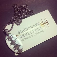 Custom Soundwave Pendant for her! Stainless steel pendant for her. Create a one of a kind pendant using your personal recorded message, a phrase from your special song, babies first words. Record your children's special message for mommy, or use a recording of a love on who has passed away.  #unique #oneofakind #mommy #wife #lover #children #love  #soundwaves #oneofakind #thoughtfulgift #SoundaveJewellery