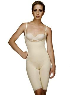 5123b0a8867 Vedette 104 All in One Full Body Suit Shaper Firm Control Mid Thigh Slimmer  NWT - deal beauty