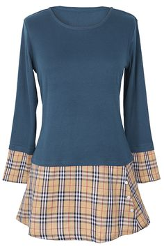 $23.99 Only with free shipping&easy return! This plaid splicing dress is featured by button ornamented&great stretch! Win best dressed Cupshe.com !