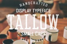 Tallow Font Family (Sans + Serif) by Tom Chalky on @creativemarket