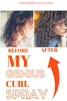 A completely affordable curl activating spray. Perfect for waking up your sleepy. - A completely affordable curl activating spray. Perfect for waking up your sleepy curls. Thin Curly Hair, Curly Hair Tips, Curly Hair Care, Curly Hair Styles, Products For Curly Hair, Style Curly Hair, Diy Hair Curls, Curly Hair Spray, 3a Curls