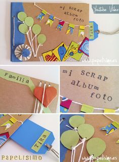 Scrapbooking para niños | Scrapbookinf for kids #DIY…