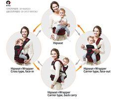Aliexpress.com: Comprar Pognae 3 en 1 bebé Hipseat Carrier envoltura de la correa cruzada ergonómico honda del bebé baba almohadillas de honda fiable proveedores en LifeCore