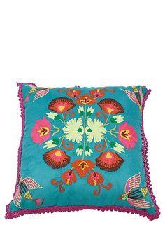 "Everyday Bohemian Chic Living  Racimo de Flores Pillow - 20"" x 20"""