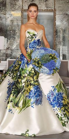 Our gallery of floral wedding dresses are for non traditional brides. These unique and stylish gowns are for brides, who looking for something different.