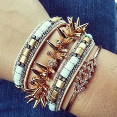 Stella & Dot! #armparty #cadywrap #genuineleather Only $59! Stack it with your other favorites! www.stelladot.com/ivynagel
