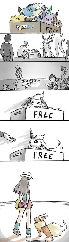 """When I saw this I thought """"that's me!"""" I love flareon! :3"""