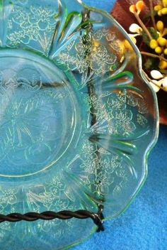 depression glass. made extremely cheaply, yet has become highly collectible.