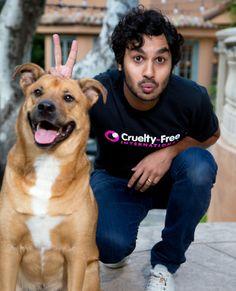 'Big Bang Theory' Star Kunal Nayyar Calls on the US to End Cosmetics Animal Testing