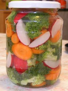 Kvašená zelenina Pickles, Life Is Good, Food To Make, Mason Jars, Food And Drink, Kimchi, Low Carb, Cooking Recipes, Vegetarian