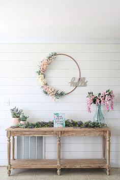DIY 1 Spring Wreath From Hula Hoop