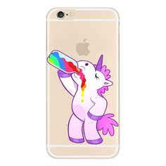 iPhone 8/iPhone 7 Case(4.7inch),Blingy's Creative Animal Design Soft TPU Rubber Clear Case for iPhone 8/iPhone 7 (Drinking Unicorn)