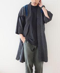 Mori Fashion, Kimono Fashion, Kimono Shirt, Modern Kimono, Vintage Kimono, Chinese Clothing, Traditional Fashion, Japanese Men, Sharp Dressed Man
