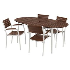 IKEA VINDALSÖ table and 4 chairs with armrests