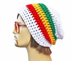 Slouch Rasta Beanie Mens or Unisex Ultimate by GlamourDamaged 86f6da1193d