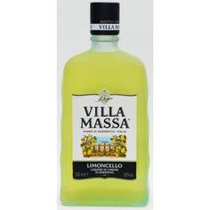 LIMONCELLO. 500 cc. VILLA MASSA Limoncello, Sorrento, Queso, Vodka Bottle, Villa, Drinks, Drinking, Drink, Fork