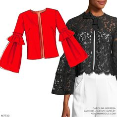 Sew the Look M7730 jacket pattern with bell sleeves #sewingpattern