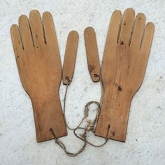 Wonderful pair of Edwardian pine glove stretchers or driers.  The thumbs are…