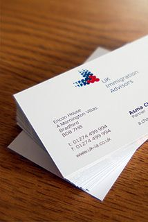 Business Cards designed for UK Immigration Advisors Business Card Design, Business Cards, Tableware, Dinnerware, Visit Cards, Dishes, Name Cards, Serveware