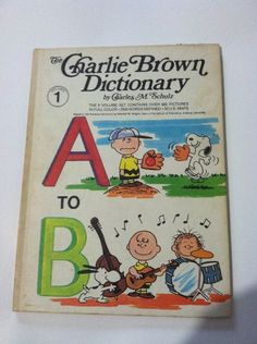 Vintage 1973 1st Printing The Charlie Brown Dictionary Set of 8 Charles Schultz