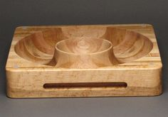 Cutting Block Chip and Salsa Bowl Combination by watswood on Etsy, $145.00  @organizedotcom AND #contest