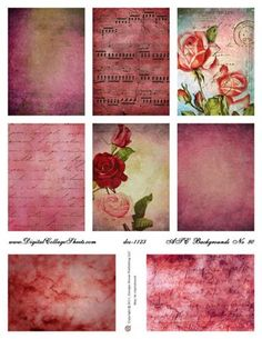 ATC Backgrounds #80 - Valentines Day
