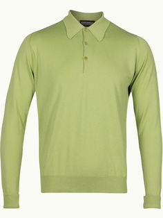 John Smedley Finchley Long Sleeve Polo Shirt - Lea Green - Available to buy at http://www.afarleycountryattire.co.uk/product-tag/john-smedley-finchley-long-sleeve-polo-shirt/ #johnsmedley #mensfashion #poloshirt #afarleycountryattire