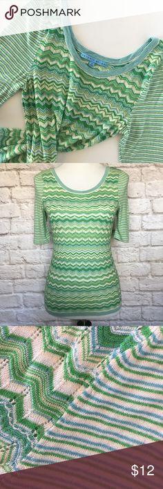 Selling this ANTONIO MELANI Knit Nia Chevron Pointelle Top on Poshmark! My username is: mwm1979. #shopmycloset #poshmark #fashion #shopping #style #forsale #ANTONIO MELANI #Tops