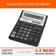 Kalkulator biurowy, 12-pozycyjny. Podwójna pamięć. Podwójne zasilanie-automatyczne. Wyłączanie zasilania po ok 10 minutach od ostatniej operacji. Duże plastikowe klawisze. POLECAMY!