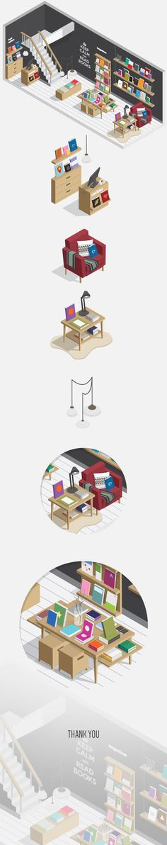 #flat_illustration Bookstore