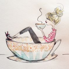 In coffee happiness. #coffee #sketch @highergroundstradingco #caffeine @womenandcoffee