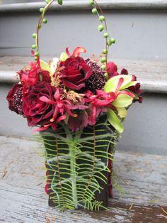 burgundy flower purse, Françoise Weeks