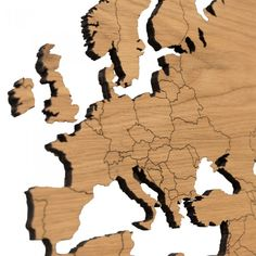 Buy the Wooden World Map Wall Art - Oak from our stunning Wall Décor collection at Red Candy, the home of quirky decor! World Map Wall Decor, Wood World Map, 3d Wall Decor, Continents And Countries, Wooden Map, Quirky Decor, Wall Art Designs, Shapes, Red Candy