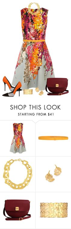 """Karen Millen Floral Office"" by stacylynnwill ❤ liked on Polyvore featuring Karen Millen, Levi's Made & Crafted, Stephanie Kantis, Alex Monroe, The Code and Philippe Audibert"