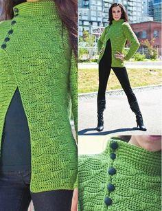 Cardigan — Crochet by Yana Crochet Jacket Pattern, Gilet Crochet, Crochet Coat, Cardigan Pattern, Crochet Cardigan, Crochet Shawl, Crochet Yarn, Crochet Clothes, Crochet Stitches