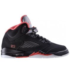 440893-001 Air Jordan 5 retro pre school black alarming A05010 Real  Jordans d59ddaba8