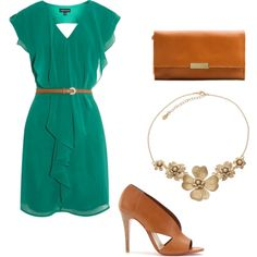 Bridal Shower outfit                  work outfit, my green dress has a 3/4 and no ruffle