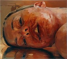 JENNY SAVILLE  Reverse, 2002-2003  Oil on canvas  84 x 96 inches (213.4 x 243.8 cm)