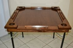 Wooden/wood dominoes/domino table by FundoraCarpentry on Etsy