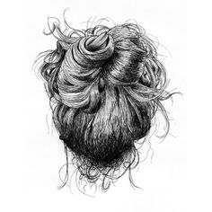 Messy Bun Studies - Ian David Thomas ❤ liked on Polyvore featuring hair, fillers, drawings, backgrounds, doodles, text, quotes, saying, scribble and phrase