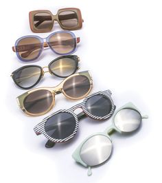 Bright Eyes: 6 Pairs of Summer Shades Everyone looks cooler in sunglasses; it's a scientific fact.