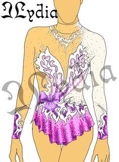 Competition Rhythmic gymnastic leotards Design Princess