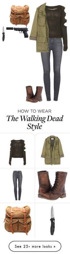 """the walking dead- inspired Halloween costume"" by weareallmadhere-96 on Polyvore featuring Paige Denim, J.Crew, Volatile and VIPARO"