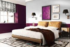 Burgundy w sypialni Red Interiors, Decoration, Pink Purple, Sweet Home, Bedroom Decor, Inspiration, Furniture, Home Decor, Plum Bedroom